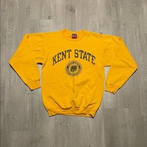 Champion Kent State College Yellow Sweatshirt